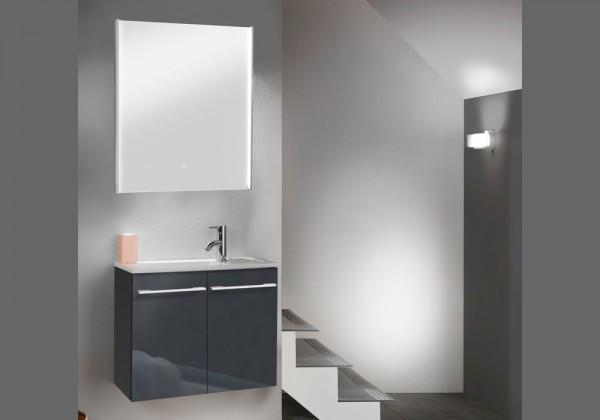Marlin Bad 3250 Badmöbel Set 60 cm, Gästebad mit Spiegel