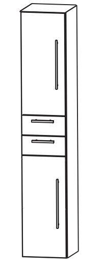 Puris Fine Line Bad-Hochschrank 40 cm breit HNA044001 L/R