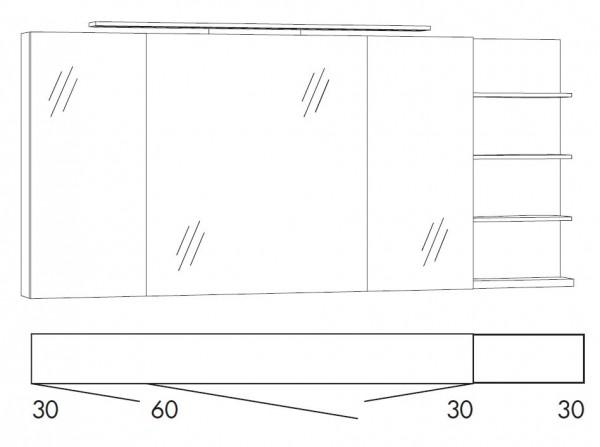 Marlin Bad 3160 - Motion Spiegelschrank 150 cm breit SFLS363R/SFLS363RLS/SFLZ363R/SFLZ363RLS