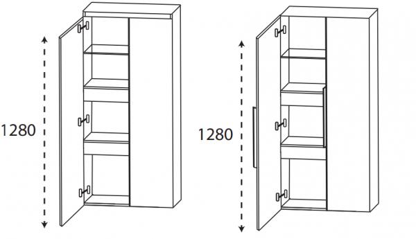 Puris 4Landa - Mittelschrank mit Innenschubkästen / 60 cm