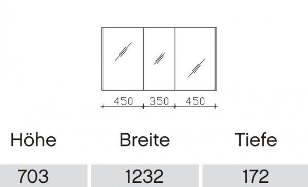 Pelipal Solitaire 6040 Bad-Spiegelschrank für Doppelwaschtisch / 123 cm SDNE00112