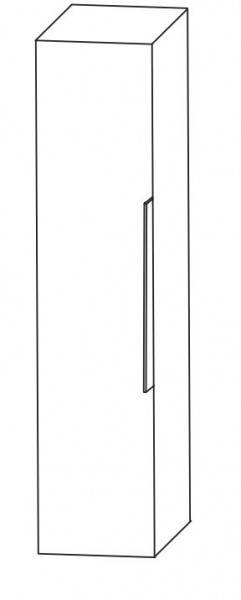 Puris Aspekt Bad-Mittelschrank - mit 1 Drehtüre und Ablageplatte