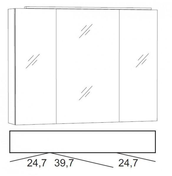 Marlin Bad 3040 - CityPlus Spiegelschrank 90 cm breit SLLB9