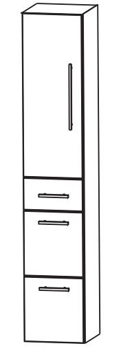 Puris Fine Line Bad-Hochschrank 30 cm breit HNA0930 L/R