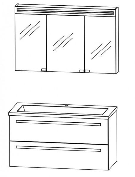Puris Star Line Badmöbel Set 90,6 cm breit kombinierbar – Glas