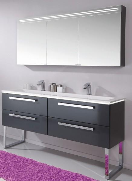 puris star line badm bel set spiegelschrank mit spiegelblende badm bel 1. Black Bedroom Furniture Sets. Home Design Ideas