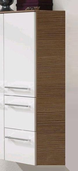 Pelipal Primadonna Bad-Midischrank Glas-Tür 35 cm breit in Schoko Struktur PR-MS 01-R - sofort liefe