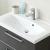 Mineralmarmor-Waschtisch, Farbe Weiß, 77 cm breit