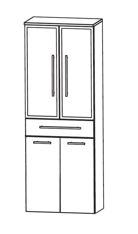 puris wow bad hochschrank mit w schekippe 60 cm breit. Black Bedroom Furniture Sets. Home Design Ideas