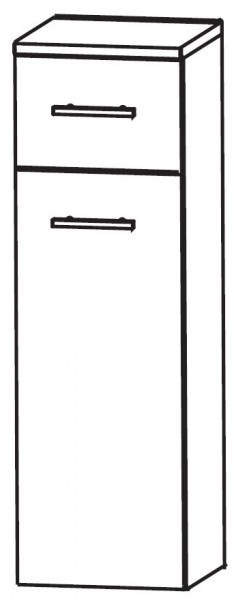 Puris Linea Bad-Highboard mit Wäschekippe 40 cm breit HBA554W01