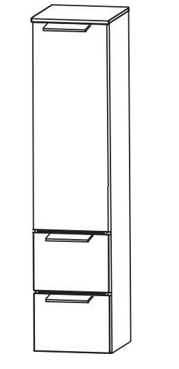 Puris Slim Line Bad-Mittelschrank 30 cm breit MNA873A29