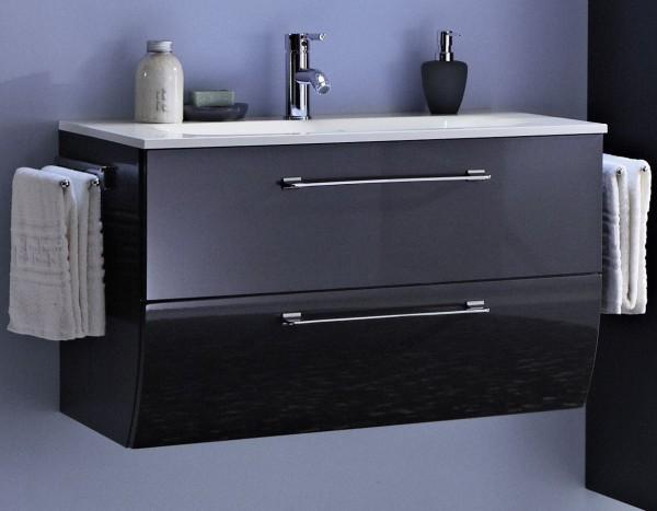Marlin Bad 3130 - Azure Waschtisch mit Unterschrank 80,5 cm breit