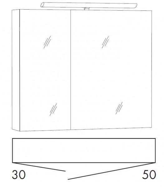Marlin Bad 3110 Spiegelschrank 80 cm breit STOB8