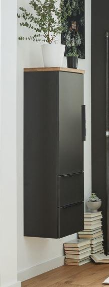 Puris Aspekt Bad-Mittelschrank - mit Drehtüre / Auszügen und Ablageplatte