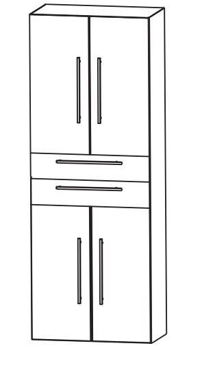 Puris Fine Line Bad-Hochschrank 60 cm breit HNA046001