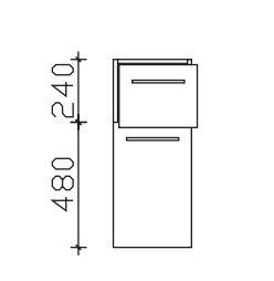Pelipal Neutrales Bad-Highboard - 1 Drehtüre, 1 Auszug / Breite wählbar