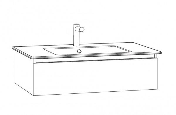 Marlin Bad 3290 Waschtisch mit Unterschrank 80 cm breit - Unterschrank variabel