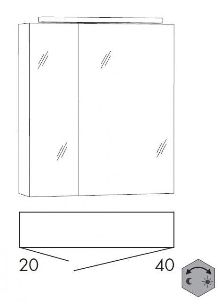 Marlin Bad 3090 – Cosmo Spiegelschrank 60 cm breit SSFGZ24 / SSFGZ42
