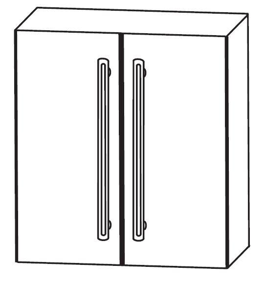 Puris Brillant Bad-Oberschrank 60 cm breit OGA4160