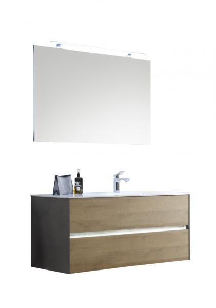 Pelipal Solitaire 6010 Badmöbel Set 113 cm breit 2 Auszüge Becken Rechts kombinierbar