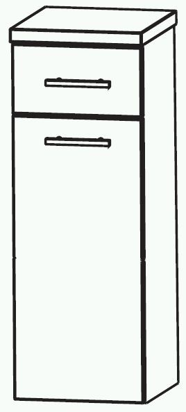Puris Swing Bad-Highboard mit Wäschekippe 30 cm breit HBA553A7W