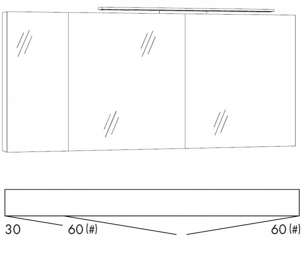 marlin bad 3160 motion spiegelschrank 150 cm breit sfls366 sflz366 badm bel 1. Black Bedroom Furniture Sets. Home Design Ideas