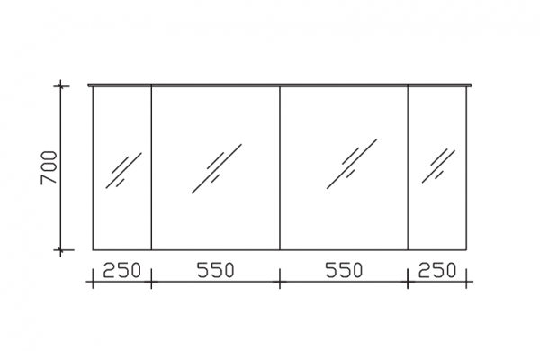 Pelipal Solitaire 9025 Spiegelschrank 160 cm breit 9025-SPS 04