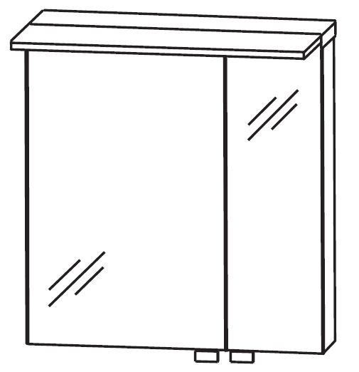 Puris Kao Line Spiegelschrank 60 cm breit SET436007/SET436006