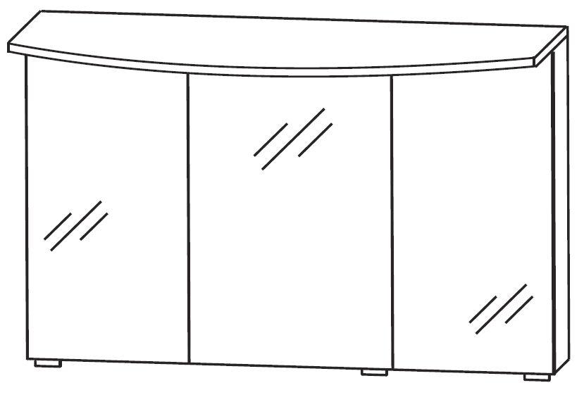 puris vuelta spiegelschrank 120 cm breit s2a432s2 badm bel 1. Black Bedroom Furniture Sets. Home Design Ideas