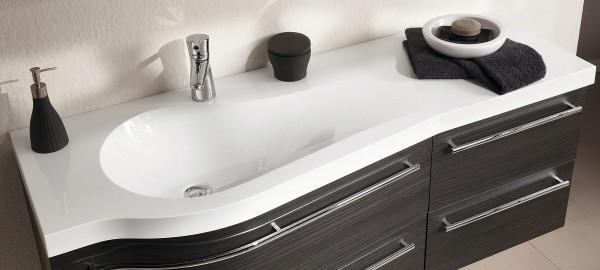 Puris Swing Waschtisch maßvariabel – Becken links