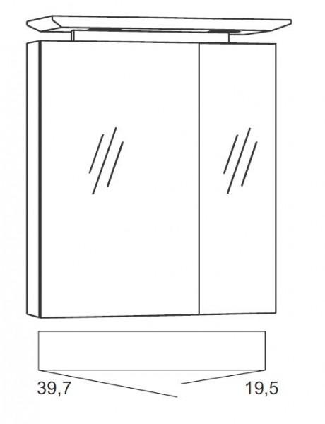 Marlin Bad 3040 - CityPlus Spiegelschrank 60 cm breit SPLG600D-4