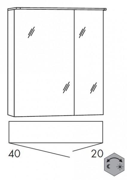 Marlin Bad 3090 – Cosmo Spiegelschrank 60 cm breit SSAOZ42 / SSAOZ24