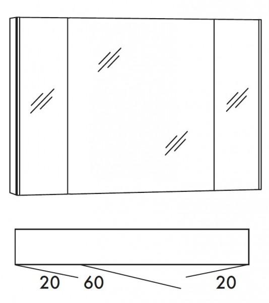 Marlin Bad 3250 Bad-Spiegelschrank 100 cm breit SAD10A