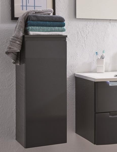 Puris Purefaction Bad-Highboard 30 cm breit HBA413W01 - mit Wäschekippe