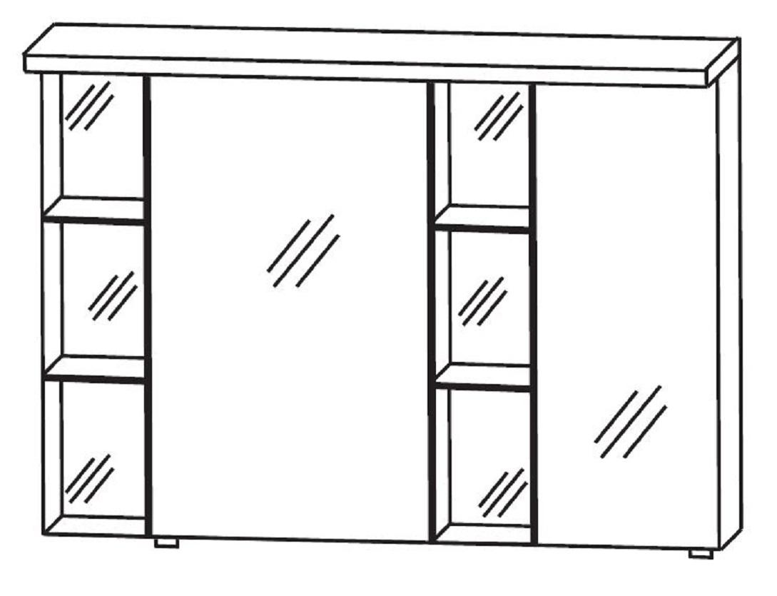puris linea bad spiegelschrank 100 cm breit s2a42r1s1. Black Bedroom Furniture Sets. Home Design Ideas