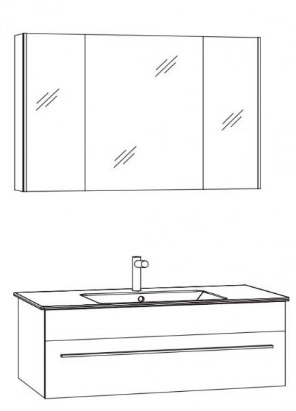 Marlin Bad 3260 Badmöbelset mit Spiegelschrank / 100 cm