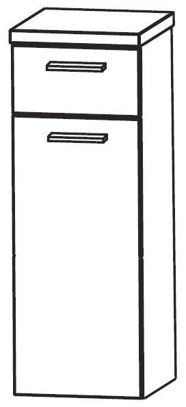 Puris Milano Bad-Highboard 30 cm breit HBA553A