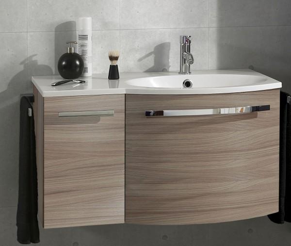 Marlin Bad 3090 – Cosmo Waschtisch mit Unterschrank 90,4 cm breit – Becken rechts