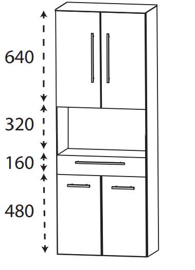 Puris Protection1 - Hochschrank HNA026001 / 60 cm