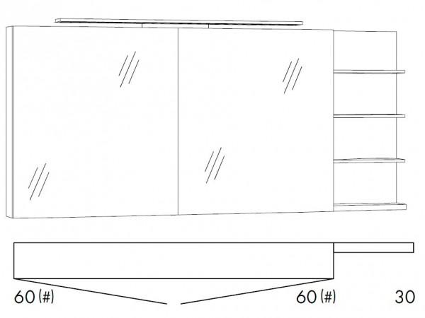 Marlin Bad 3160 - Motion Spiegelschrank 150 cm breit SFLS66R/SFLS66RLS/SFLZ66R/SFLZ66RLS