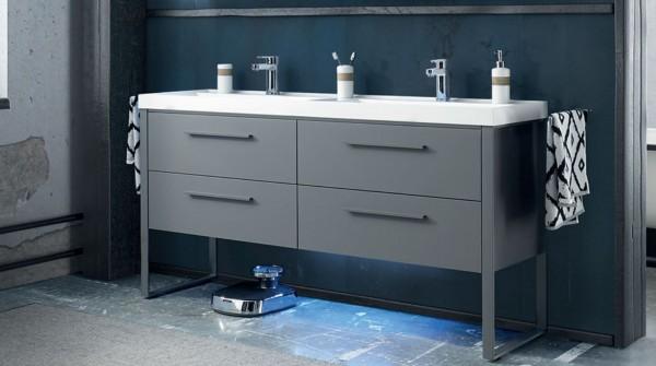 Pelipal Solitaire 9025 Waschtisch mit Unterschrank 158 cm/ Mineralmarmor/ Unterschrank mit Auszügen
