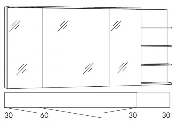 Marlin Bad 3160 - Motion Spiegelschrank 150 cm breit SAOS363R/SAOS363RLS/SAOZ363R/SAOZ363RLS