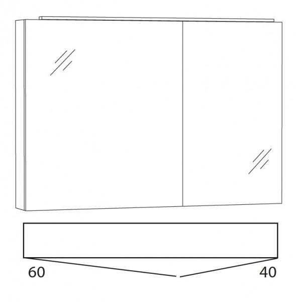 Marlin Bad 3130 - Azure Spiegelschrank 100 cm breit SFLA10L / SFLA10R