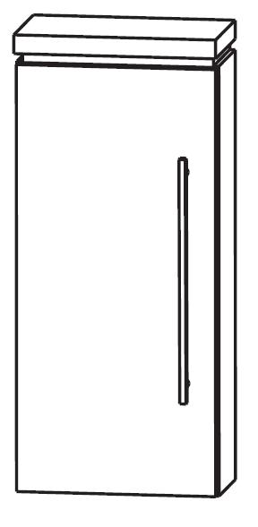 Puris Cool Line Bad-Oberschrank 30 cm breit OGA413A5 L/R