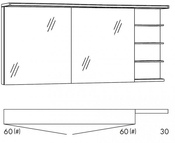 Marlin Bad 3160 - Motion Spiegelschrank 150 cm breit SOBS66R/SOBS66RLS