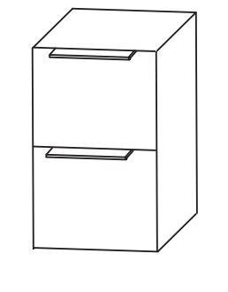 Puris Aspekt Bad-Unterschrank / 2 Auszüge und Ablageplatte