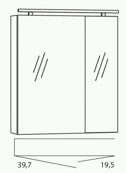 Marlin Bad 3040 - CityPlus Spiegelschrank 60 cm breit SPSE600D-4