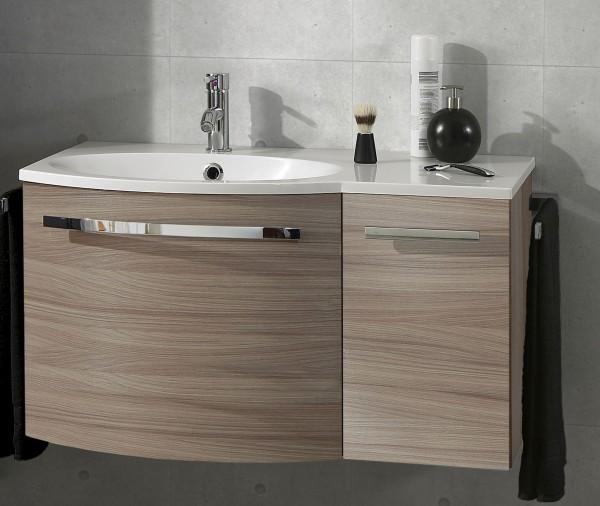 Marlin Bad 3090 – Cosmo Waschtisch mit Unterschrank 90,4 cm breit – Becken links