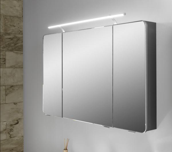 pelipal fokus 4005 spiegelschrank mit aufsatzleuchte 120. Black Bedroom Furniture Sets. Home Design Ideas