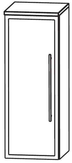 Puris Crescendo Bad-Highboard 30 cm breit HBA513B7